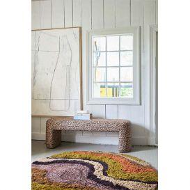 Lobby bank bloemenprint 140cm