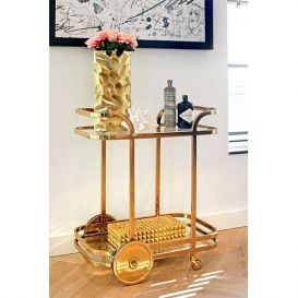 Trolley X.O. goud/glas