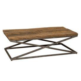 Salontafel hout/metaal 130x70cm
