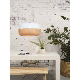 Hanglamp Mekong bamboe wit/naturel 60cm