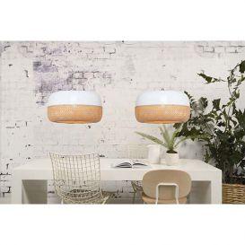 Hanglamp Mekong bamboe wit/naturel 60 cm 2 arms