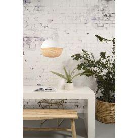 Hanglamp Mekong bamboe wit/naturel 32cm