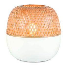 Tafellamp Mekong bamboe wit/naturel  32 cm