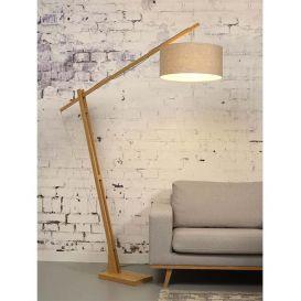 Vloerlamp Montblanc bamboe licht linnen