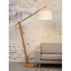 Vloerlamp Montblanc bamboe wit