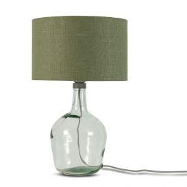 Tafellamp Murano glas groen 47cm