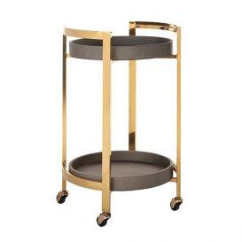 Trolley Calesta rond goud/shagreen