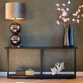 Wandtafel Oakura zwart 180x40cm