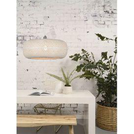 Hanglamp Palawan bamboe wit