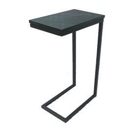 Laptoptafel marmer zwart & staal