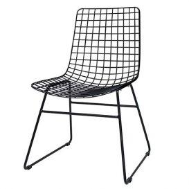 Draadstoel Wire metaal zwart
