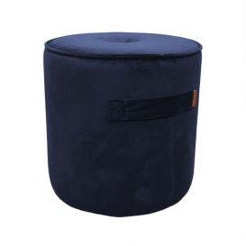 Poef Handle royal blue velvet