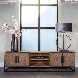 Tv-dressoir Herringbone 4 deurs