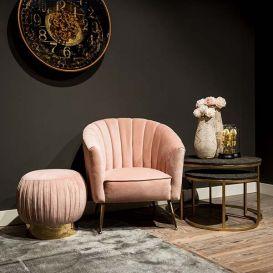 Fauteuil Shelly roze velvet