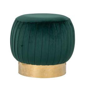 Pouffe Faye green velvet