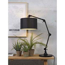 Tafellamp Amsterdam zwart Ijzer/textiel