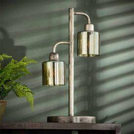 Tafellamp Harbor amber glas  2 lampen
