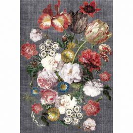 Vloerkleed Bouquet grijs 290x190