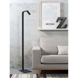 Vloerlamp Zurich zwart Ijzer incl. dimmer