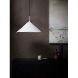 Hanglamp Triangle L metalen driehoek warm grijs