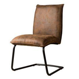 Stoel Pinto fabric donker bruin
