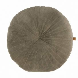 Kussen fluweel grijs rond 50cm